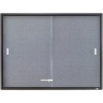 Quartet, QRT2364S, Alum. Frame 2-door Bulletin Boards, 1 / Each