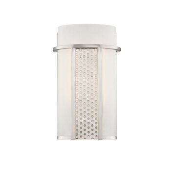 Designers Fountain Lucern 5-in W 1-Light Satin Platinum Modern/Contemporary Wall Sconce ENERGY STAR