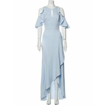 V-Neck Long Dress w/ Tags Blue