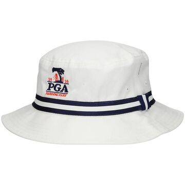 2020 PGA Championship Imperial Youth Oxford Bucket Hat - White/Navy