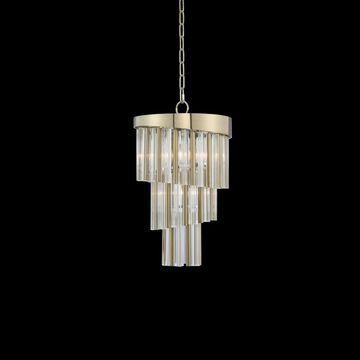 Allegri 029810038FR001 Four Light Mini Pendant Espirali Brushed Champ - One Size (One Size - Clear)