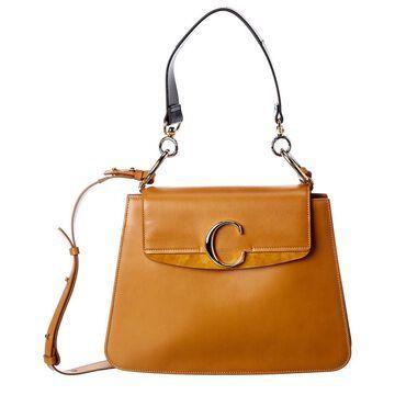 Chloe C Medium Leather & Suede Shoulder Bag