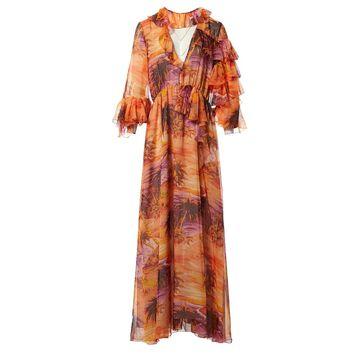 Msgm Orange Polyester Dresses
