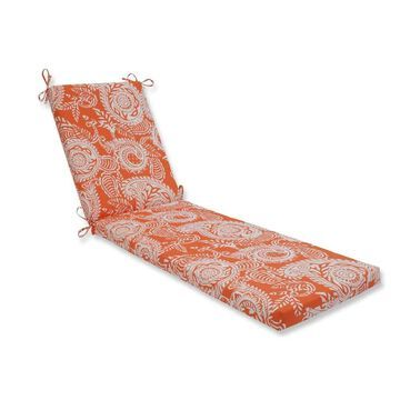 Pillow Perfect Outdoor/ Indoor Addie Terra Cotta Chaise Lounge Cushion