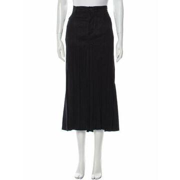 Midi Length Skirt Blue