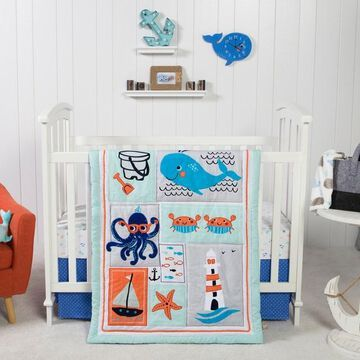 Trend Lab Ocean Pals 3 Piece Crib Bedding Set