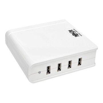 Tripp Lite 4-Port USB Charging Station Hub 5V 6A/30W Tablet Smartphone ipad - Power adapter - 30 Watt - 2.4 A - 4 output connectors (4 x USB) - white