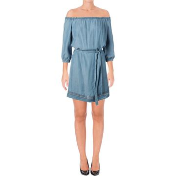 Paige Womens Beatrice Tencel Eyelet Casual Dress