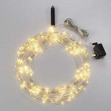 Bulbrite LED/STAR/COP/M/27K Indoor LED Starry String Lights-Multi, 10 - 10' Silver Wire Strands, Plug-In