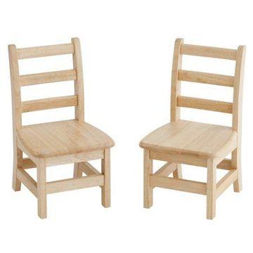 ECR4Kids 10in Three Rung Kids Ladderback Chair - Assembled