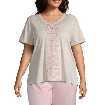Society Page Alfred Dunner Embroidered Top - Plus