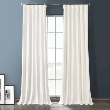 Exclusive Fabrics Plush Velvet Hotel Blackout Curtain