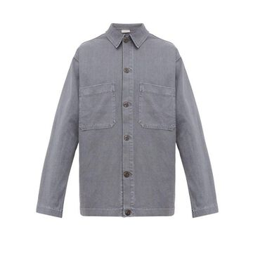 Lemaire - Patch-pocket Cotton-jersey Overshirt - Mens - Light Blue