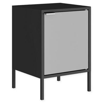 Manhattan Comfort Smart End Table in Black/Grey