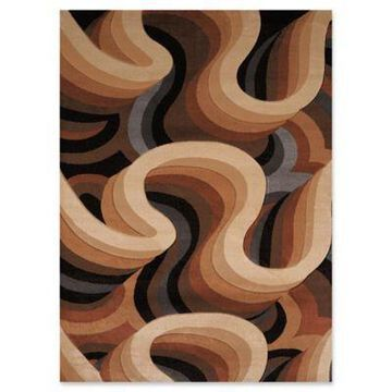 United Weavers Contours Sky Zone 9' x 12' Area Rug in Toffee