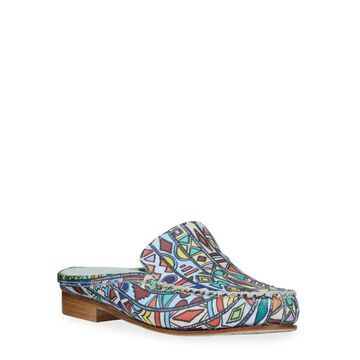 Soley Printed Leather Mules