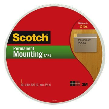 Scotch Permanent Mounting Tape, 3/4