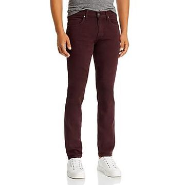 Paige Federal Slim Straight Jeans in Chocolate Plum