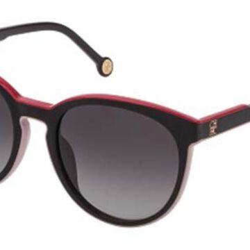 Carolina Herrera SHE793 09P2 Men's Sunglasses Black Size 53