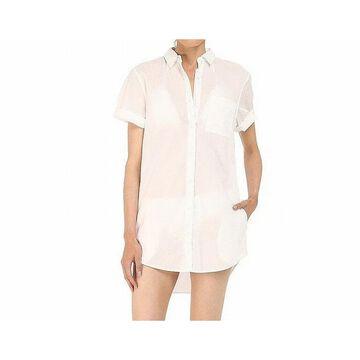 Onia Womens Shirt Dress Swimwear Large Cover-Up Pocket