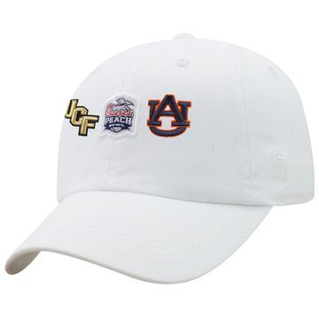 UCF Knights vs. Auburn Tigers Top of the World 2018 Peach Bowl Dueling Adjustable Hat - White