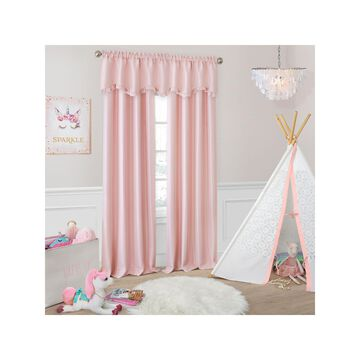 Elrene Adaline Faux-Silk Juvenile Window Panels Room Darkening Rod-Pocket Curtain Panel