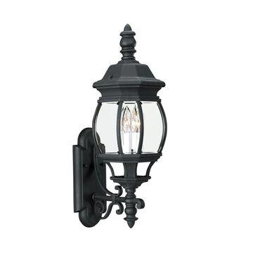 Sea Gull Lighting Wynfield 23.5-in H Black Candelabra Base (E-12) Outdoor Wall Light ENERGY STAR | 88201EN-12