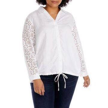 Rafaella Women's Plus Size Long Sleeve Bomber Jacket - -