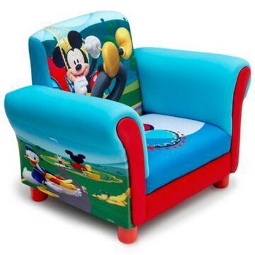 Delta Children Disney Mickey Mouse Upholstered Chair in Blue