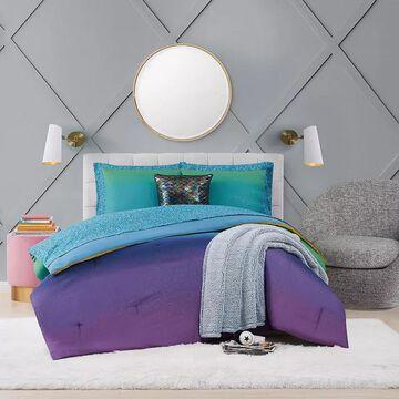 Material Girl Mermaid Ombre Complete Bedding Set, Multicolor, Queen