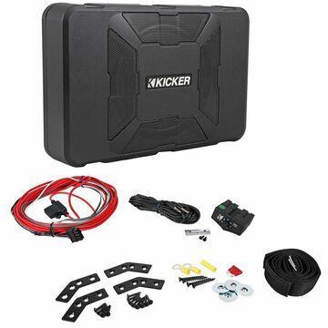 Kicker 11HS8 8 150 Watt Hideaway Compact Car Audio Powered Subwoofer Sub HS8