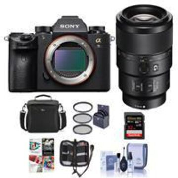 Sony Alpha a9 Mirrorless Digital Camera, Full Frame With Sony FE 90mm f/2.8 Macro G OSS Lens - Bundle With 32GB SDHC U3 Card, Camera Bag, 62mm Filter Kit, Cleaning Kit, Memory Wallet, Software Package