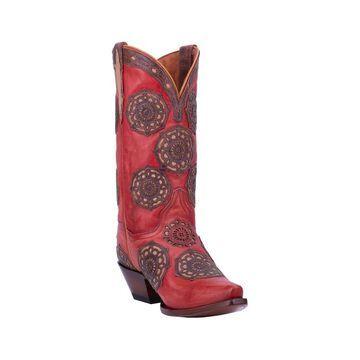 Dan Post Western Boots Womens Circus Flower 12