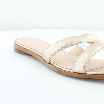 Avec Les Filles Womens Blaye Open Toe Casual Slide Sandals