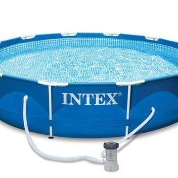 ''Intex 12' x 30'''' Metal Frame Set Swimming Pool with 530 GPH Filter Pump''
