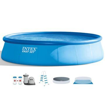 Intex 18-ft x 18-ft x 48-in Round Above-Ground Pool | 84402