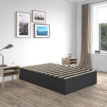 Premier Beckett Modern Platform Bed Frame Base, Twin, Black