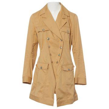 John Galliano Beige Cotton Coats