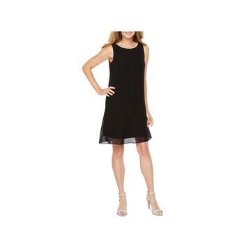 MSK Sleeveless Beaded Neck Shift Dress
