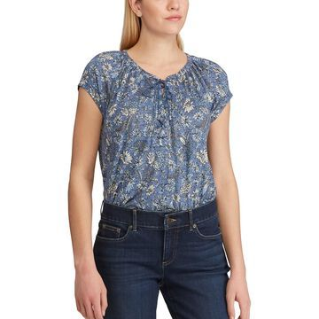 Women's Chaps Lace-Up Top