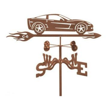 EZ Vane Corvette C6 Car Weathervane With Deck Mount