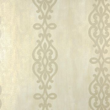 Kenneth James Sparkle 56-sq ft Champagne Non-Woven Stripes Unpasted Wallpaper in Off-White   2542-20719