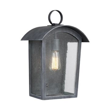 Feiss Hodges 10.75-in W 1-Light Ash Black Wall Sconce