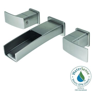 Pfister Kenzo Wall Mount Widespread Trough Bath Faucet Brushed Nickel