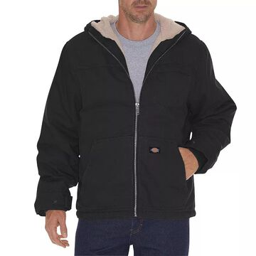 Men's Dickies Sherpa-Lined Hooded Jacket, Size: Large, Black