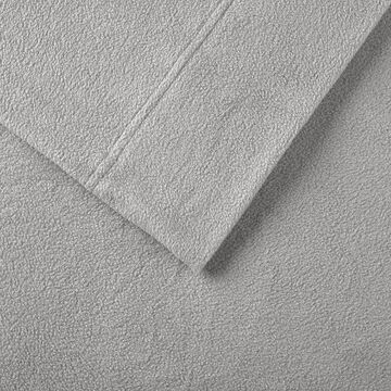True North by Sleep Philosophy Microfleece Sheets, Grey, TWINXL SET