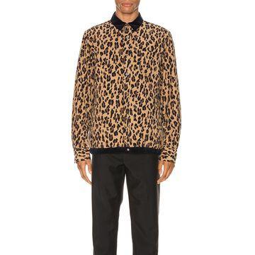 Sacai Leopard Shirt in Beige   FWRD