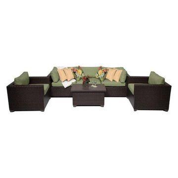TK Classics Belle 6-Piece Outdoor Wicker Sofa Set, Cilantro