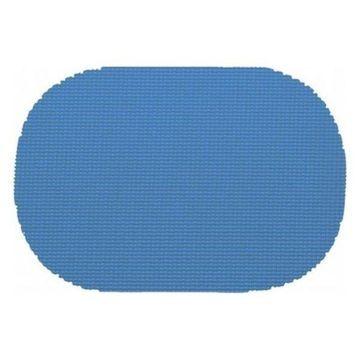 Kraftware Fishnet Oval Placemat Dz. Process Blue