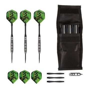 Viper Sidewinder Tungsten Steel Tip Darts 21 Grams and Casemaster Single Black Dart Case